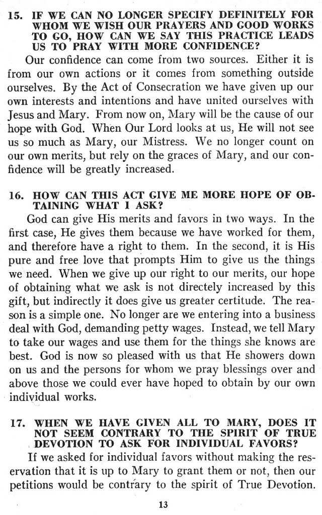 Catechism True Devotion 13