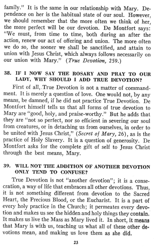 Catechism True Devotion 23