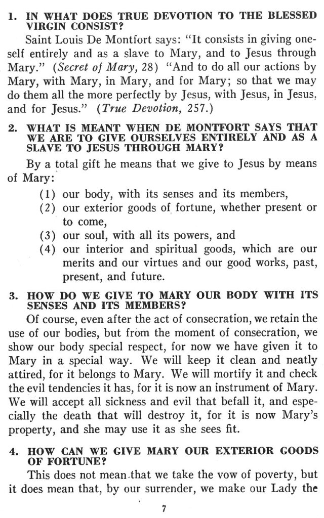 Catechism True Devotion 7