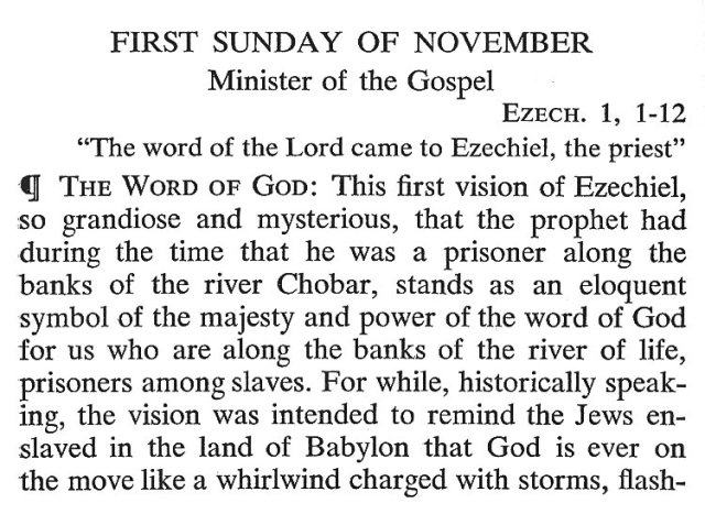 First Sunday November 1
