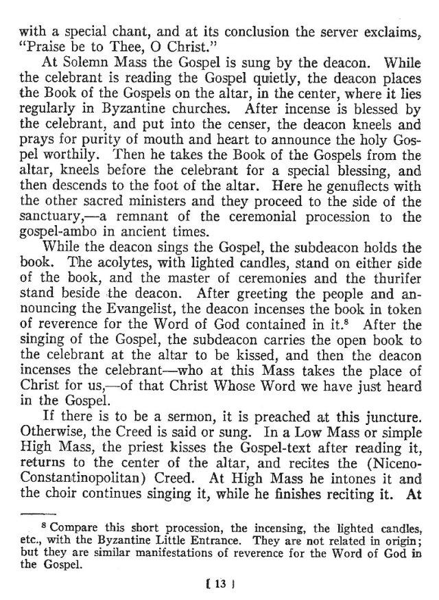 Comparison of Roman Byzantine Mass 12