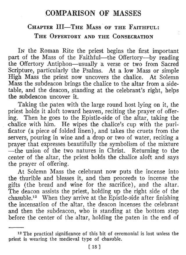 Comparison of Roman Byzantine Mass 17