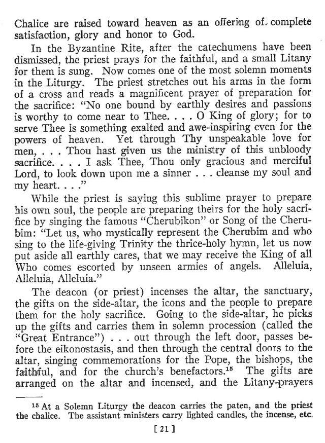 Comparison of Roman Byzantine Mass 20