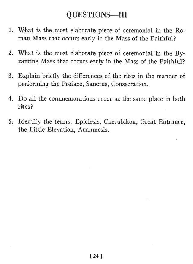 Comparison of Roman Byzantine Mass 23