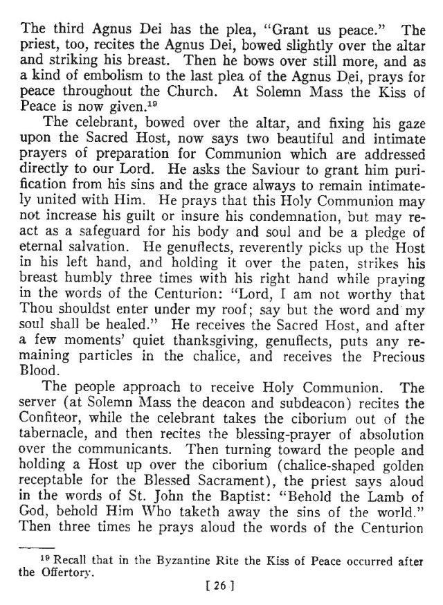 Comparison of Roman Byzantine Mass 25