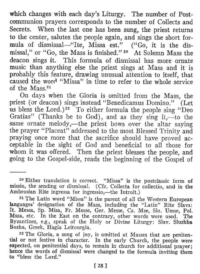 Comparison of Roman Byzantine Mass 27