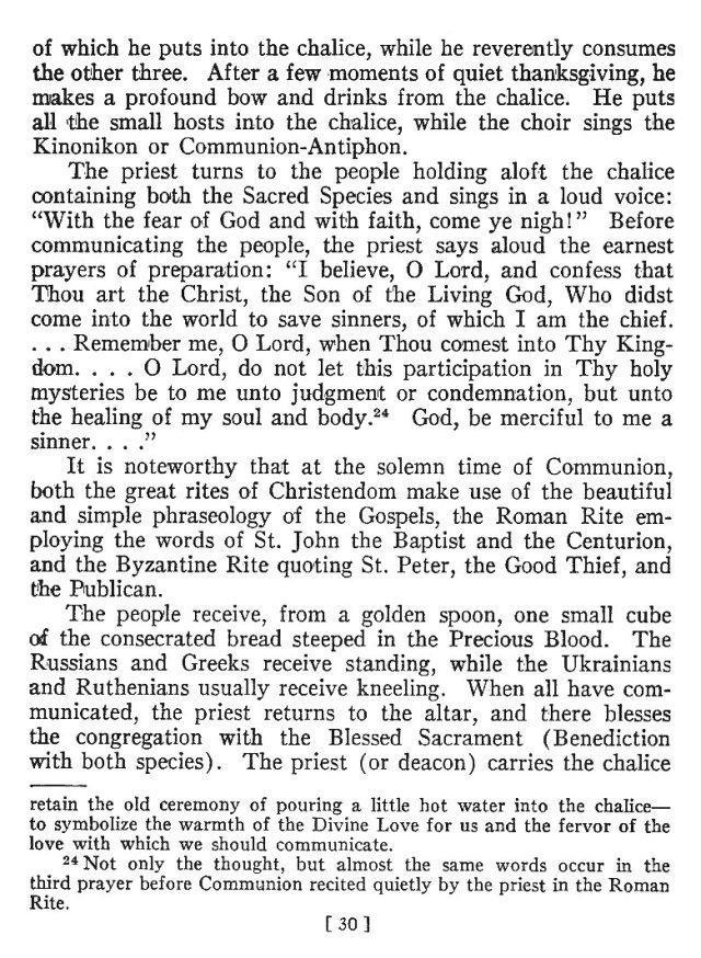 Comparison of Roman Byzantine Mass 29