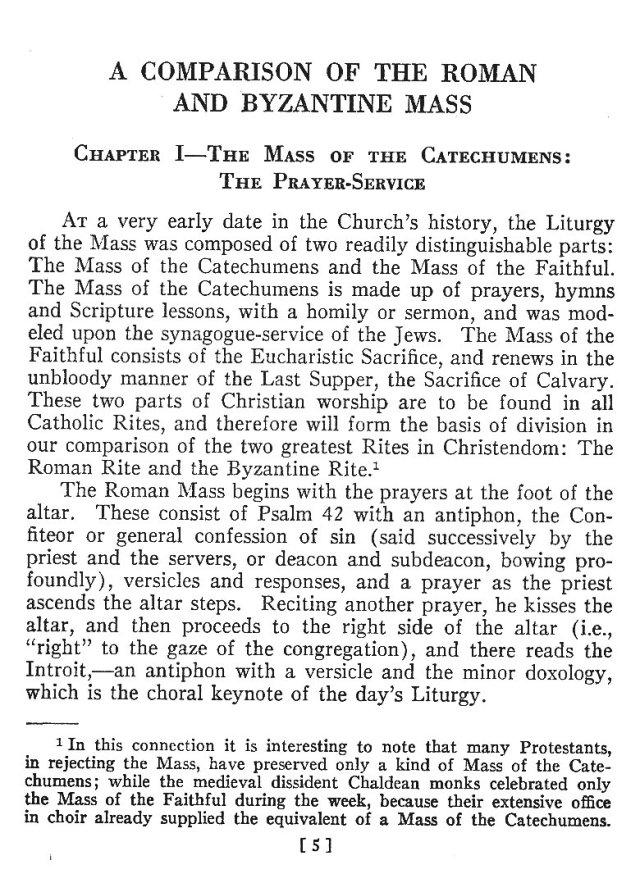 Comparison of Roman Byzantine Mass 4
