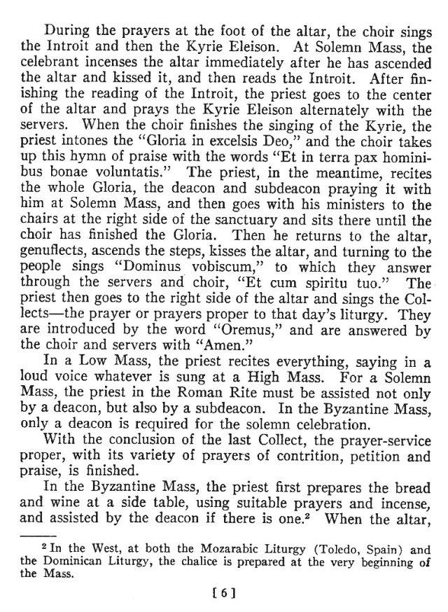 Comparison of Roman Byzantine Mass 5