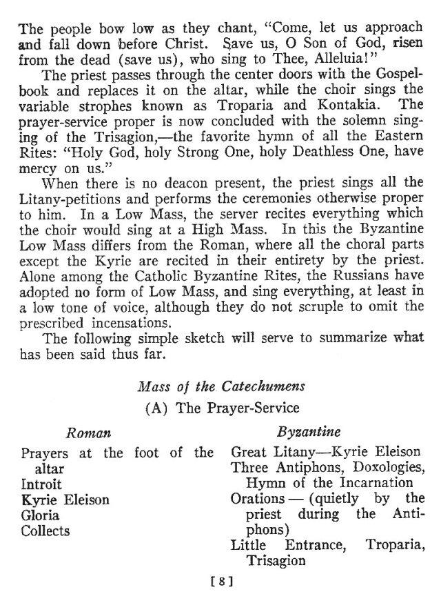 Comparison of Roman Byzantine Mass 7