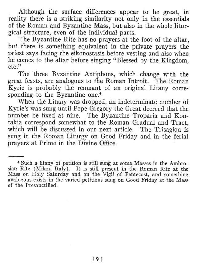 Comparison of Roman Byzantine Mass 8
