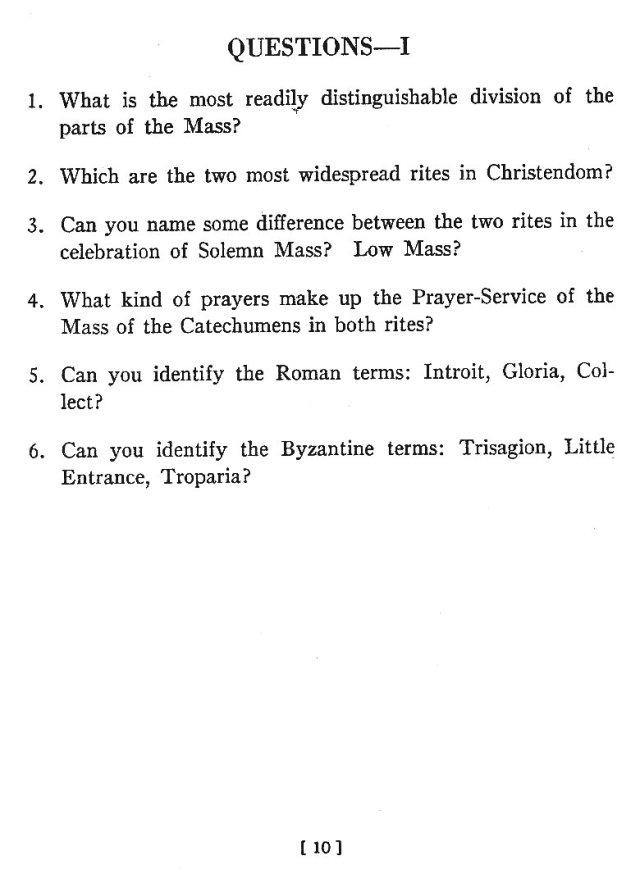 Comparison of Roman Byzantine Mass 9
