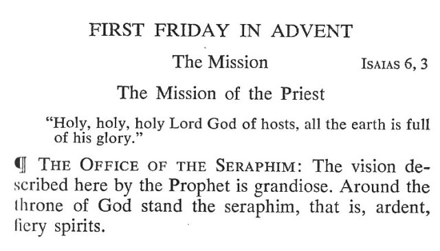 First Friday Advent 1