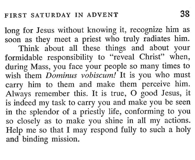 First Saturday Advent 5