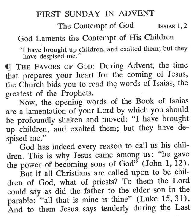 First Sunday Advent 1