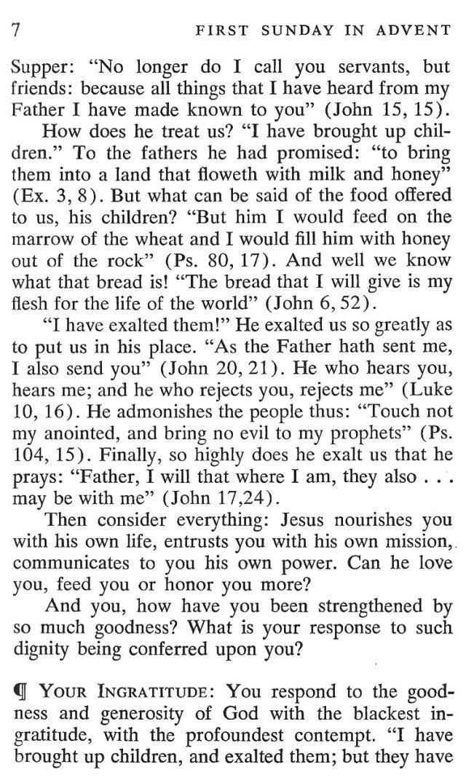 First Sunday Advent 2