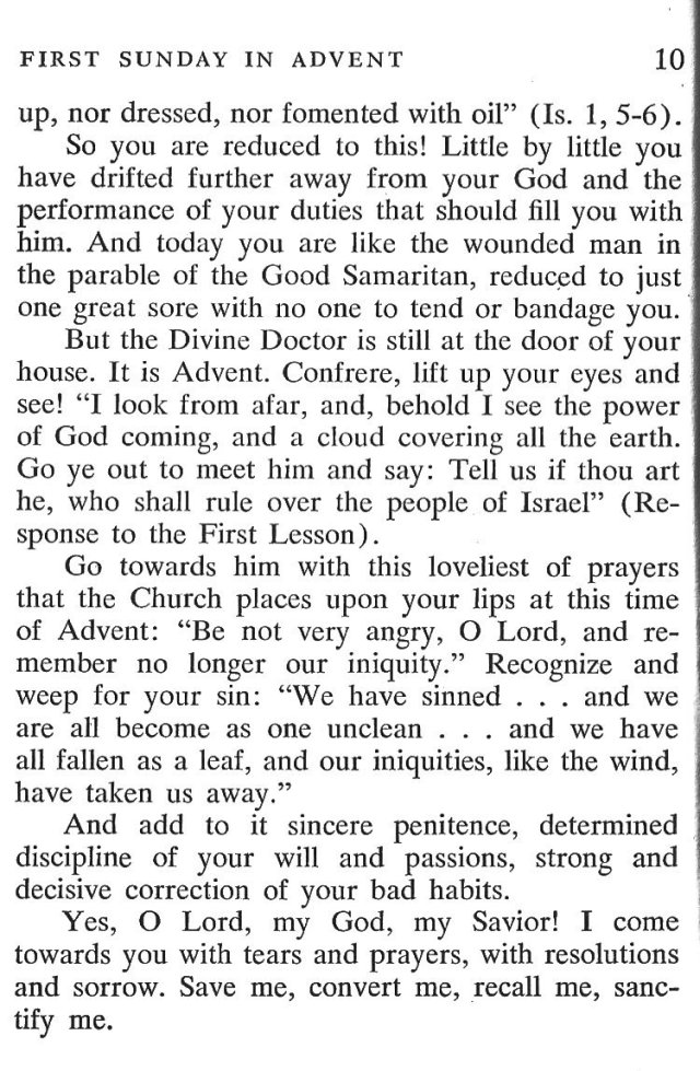 First Sunday Advent 5