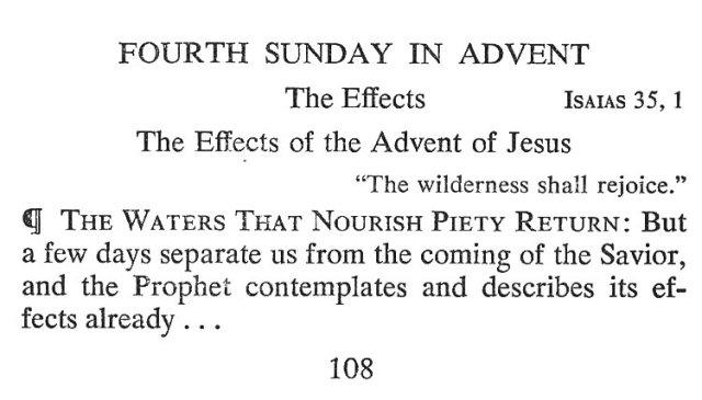 Fourth Sunday Advent 1