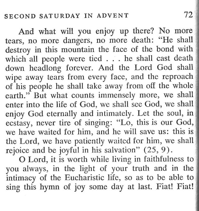 Second Saturday Advent 5