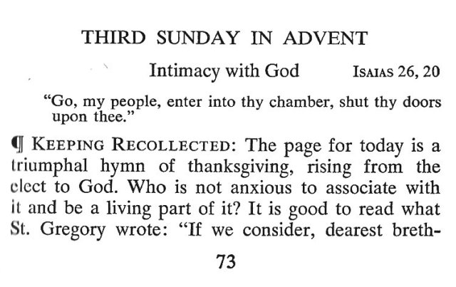 Third Sunday Advent 1