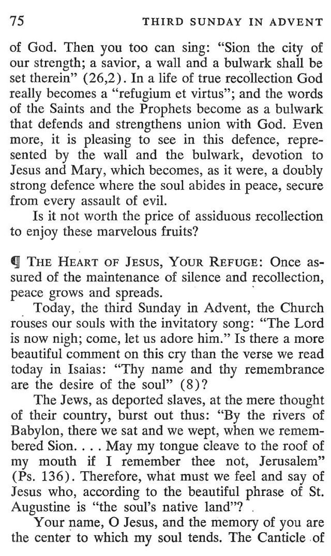 Third Sunday Advent 3