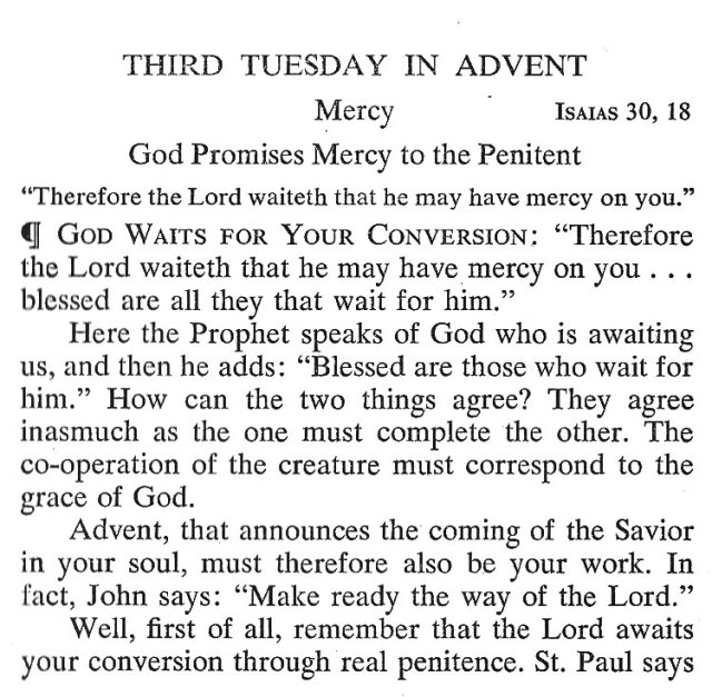 Third Tuesday Advent 1