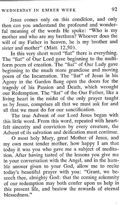 Third Wednesday Advent 5