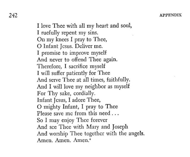 Infant of Prague Prayer 4