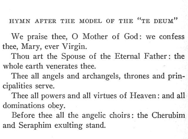 Marian Te Deum 1