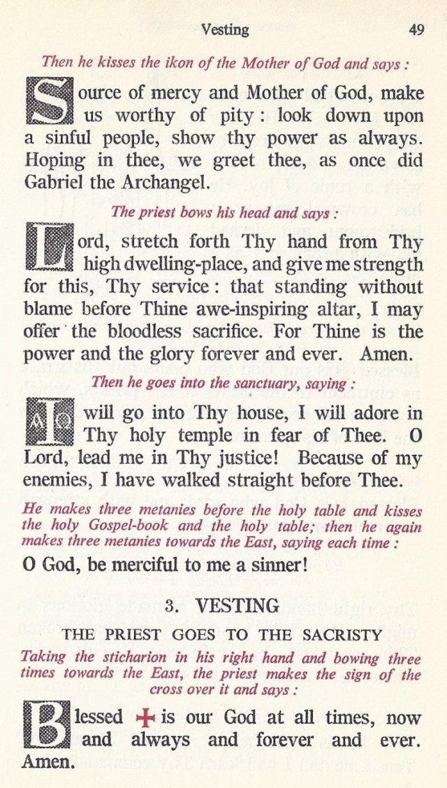 Preparation Divine Liturgy 15