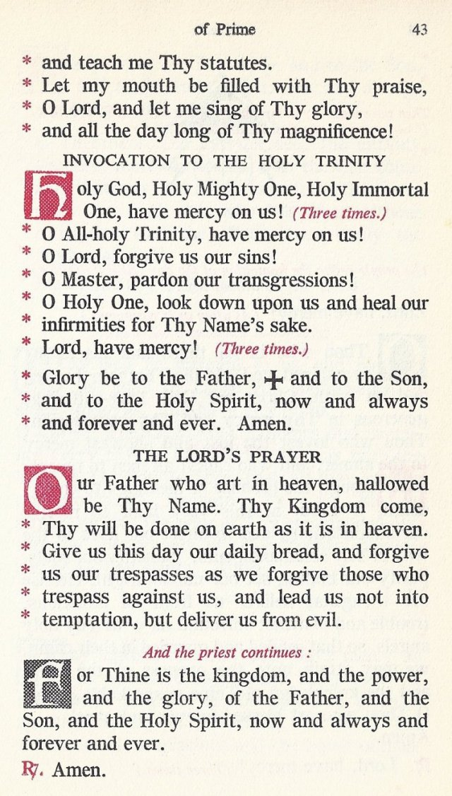Preparation Divine Liturgy 9