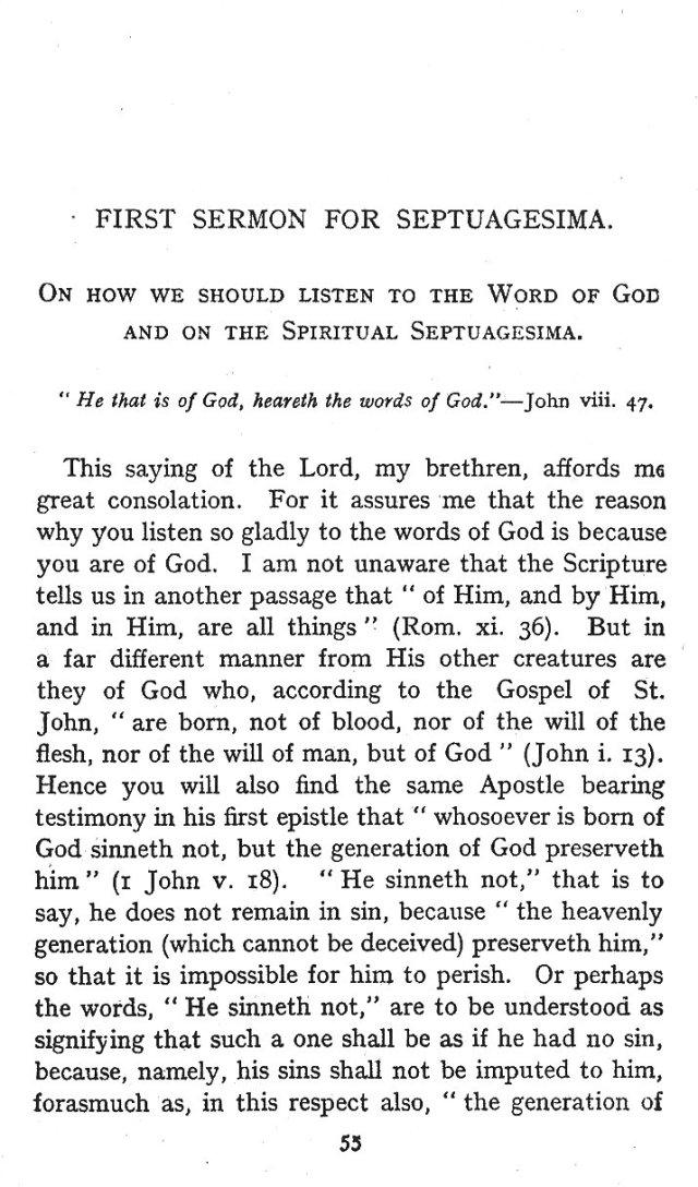 Septuagesima 1st Sermon 1