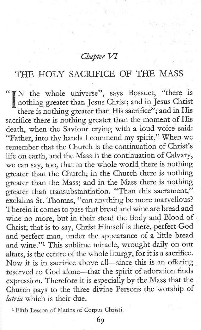 Holy Sacrifice of the Mass 1
