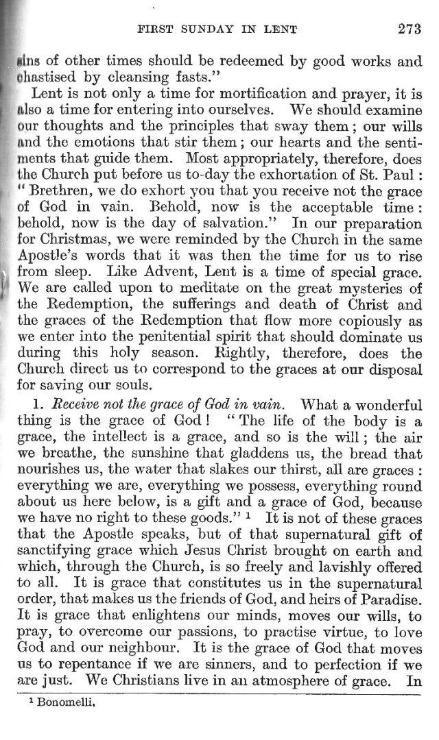 1st Sunday in Lent Epistle Commentary 14