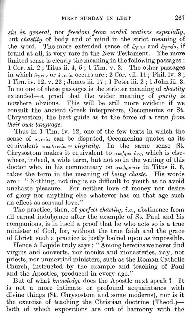 1st Sunday in Lent Epistle Commentary 8
