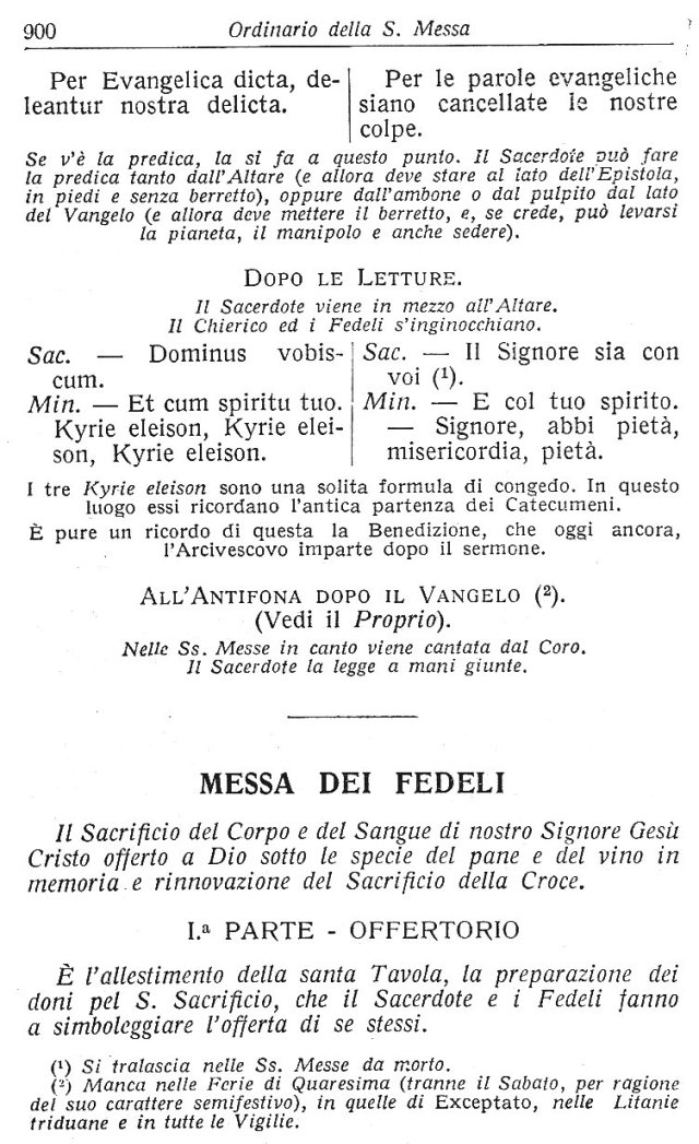 Ambrosian Ordo Missae 10