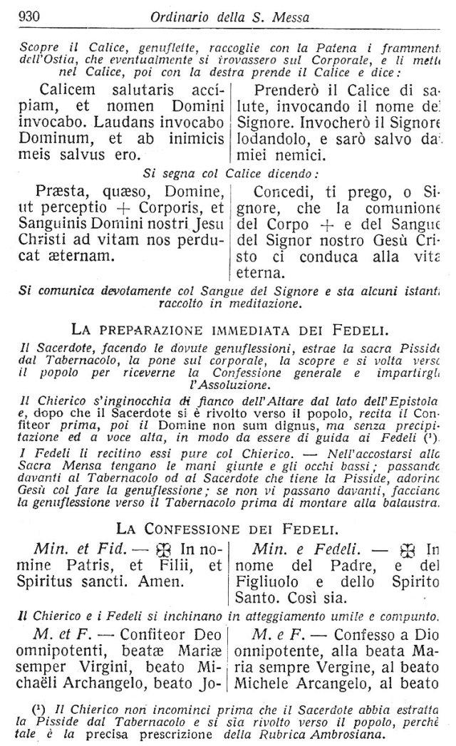 Ambrosian Ordo Missae 40