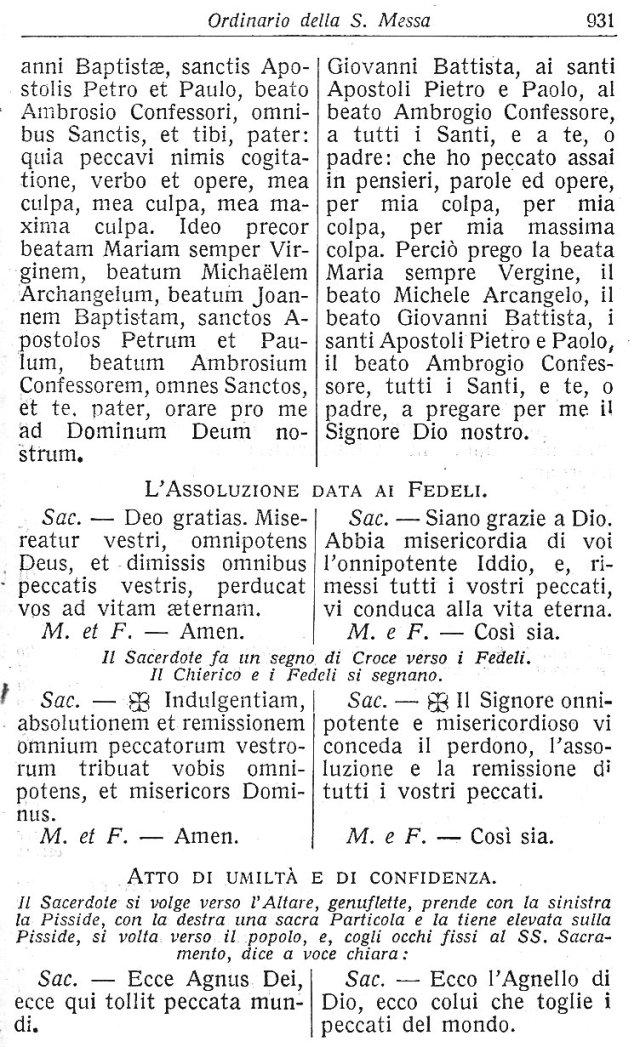 Ambrosian Ordo Missae 41