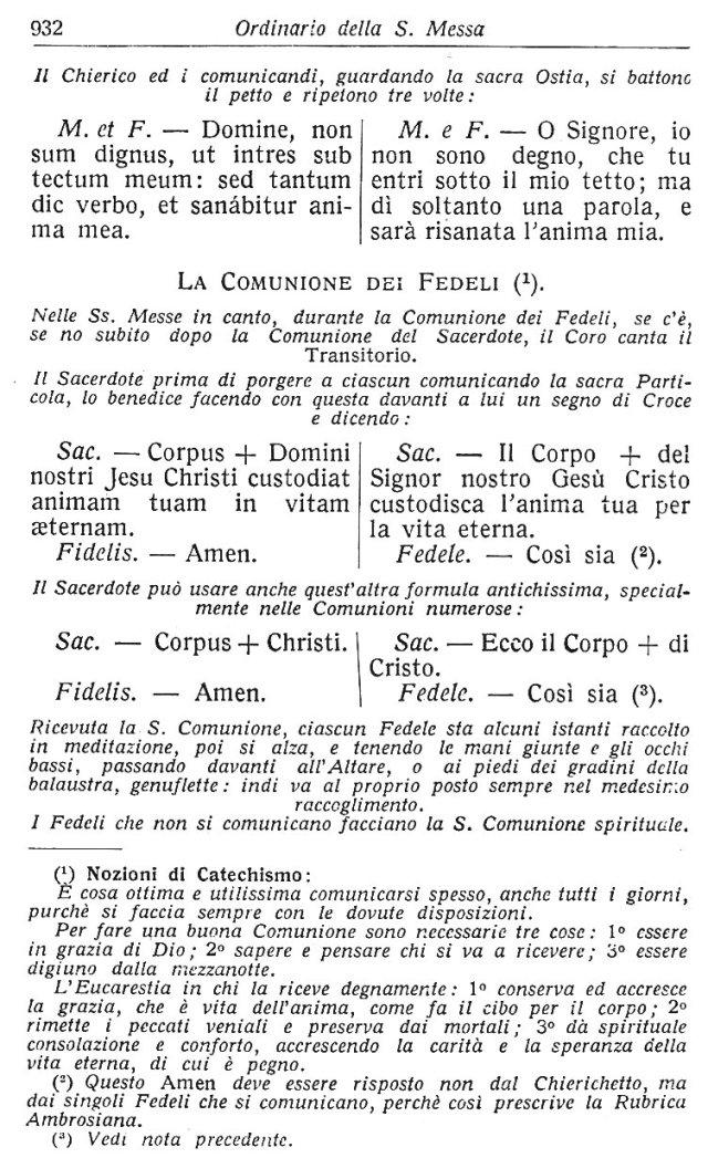 Ambrosian Ordo Missae 42