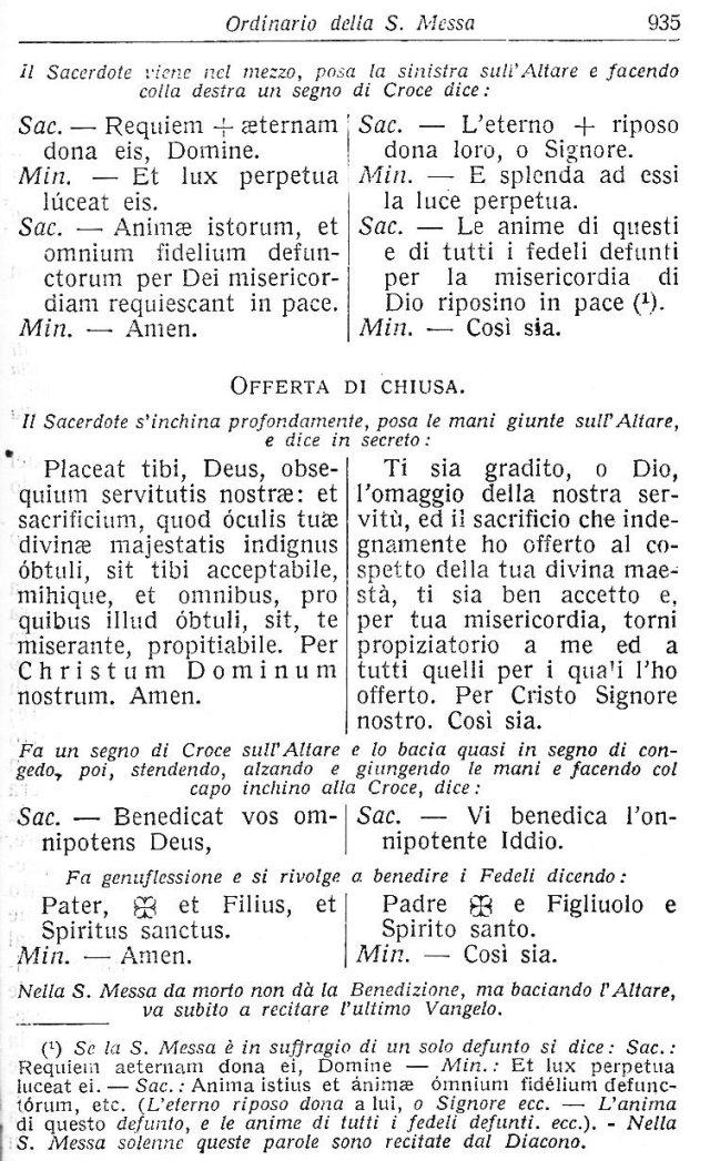 Ambrosian Ordo Missae 45