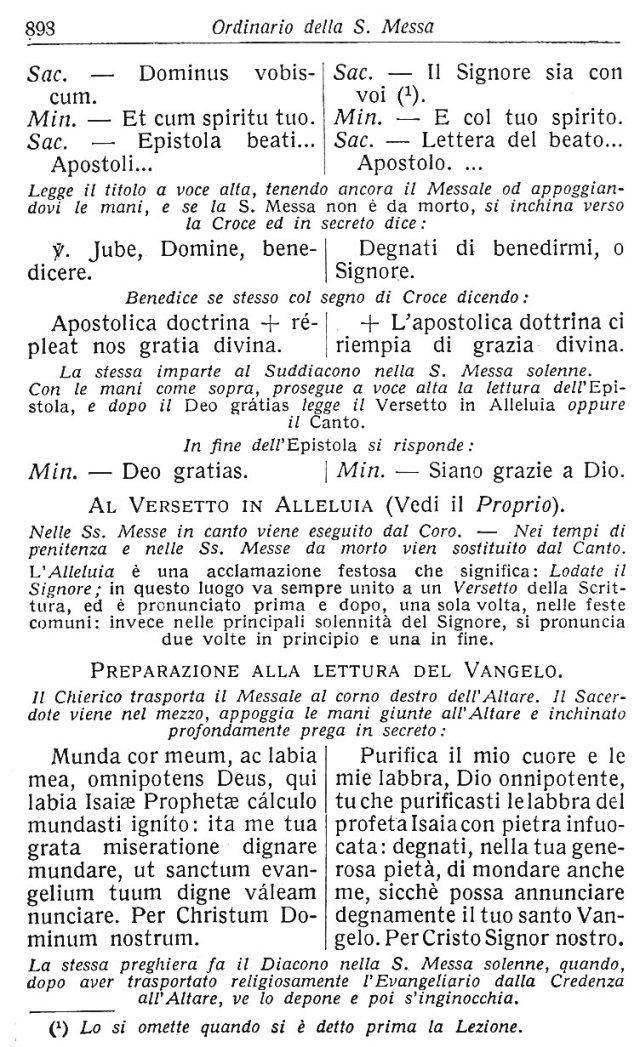 Ambrosian Ordo Missae 8