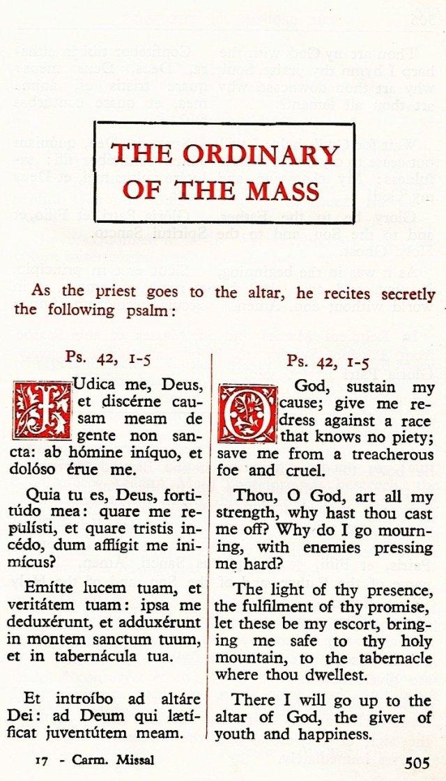 Carmelite Ordo Missae 1