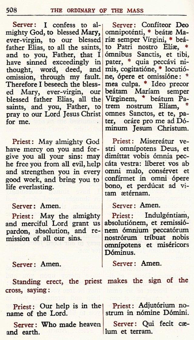 Carmelite Ordo Missae 4