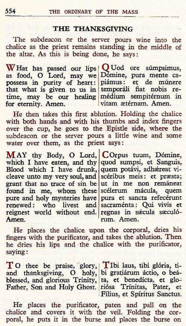 Carmelite Ordo Missae 50