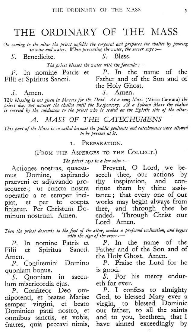 Dominican Ordo Missae 1
