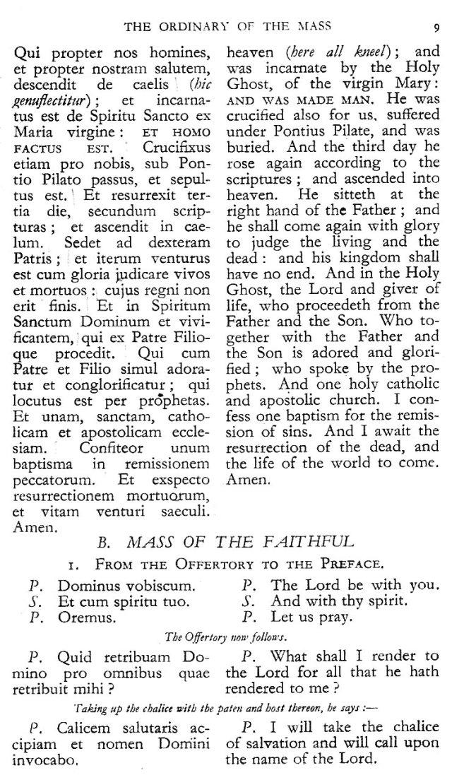 Dominican Ordo Missae 5