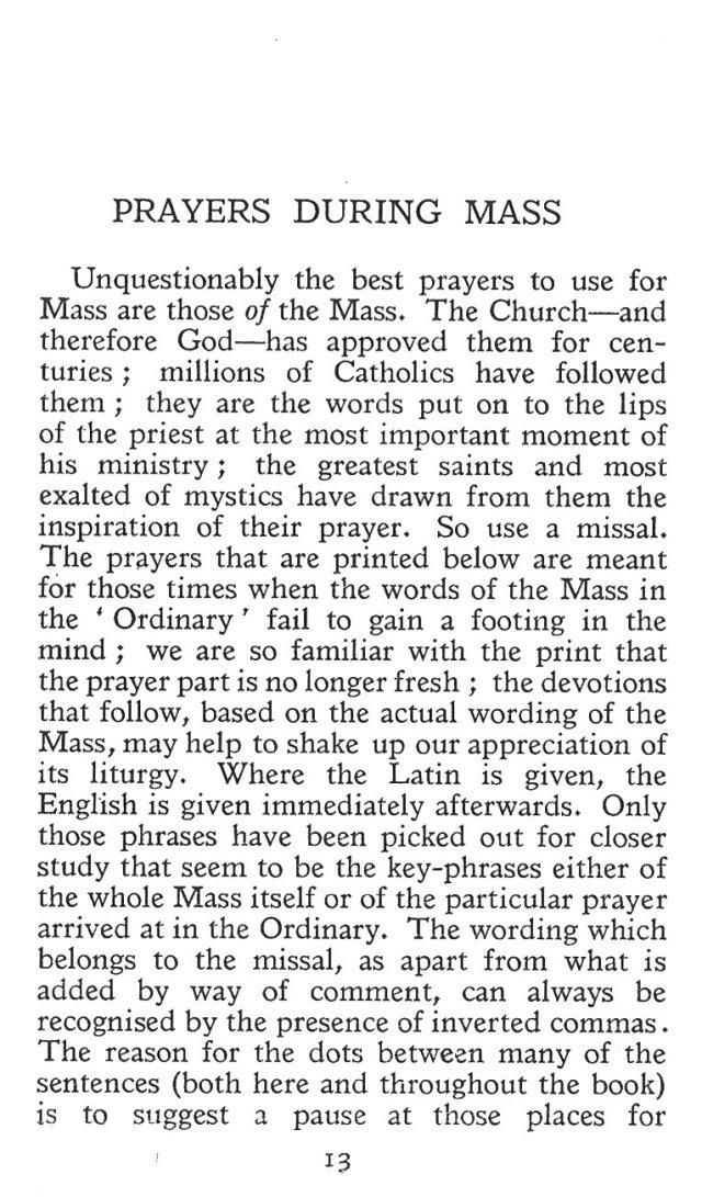 Prayers during Mass 1