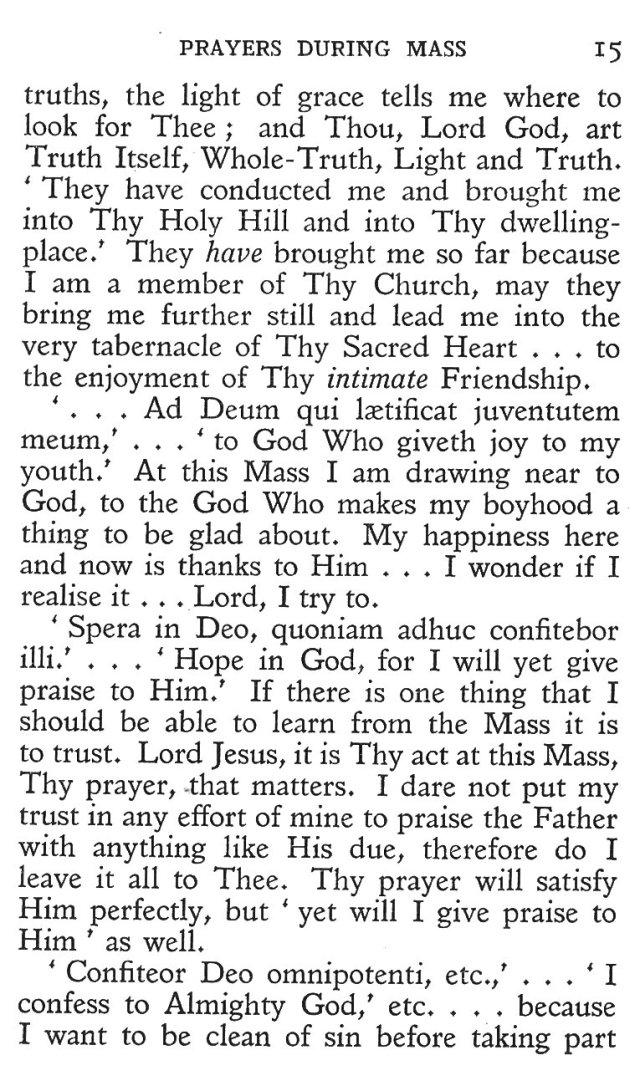 Prayers during Mass 3