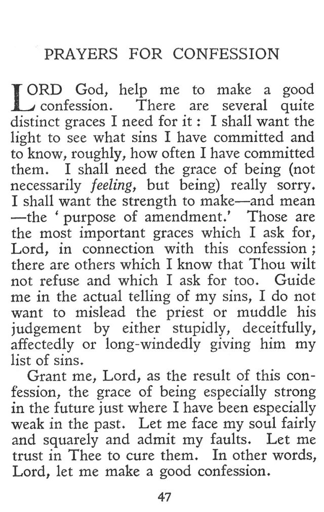 Prayers for Confession 1