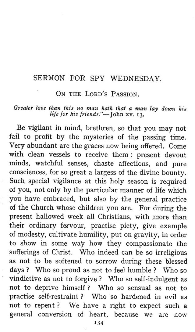 Spy Wednesday Sermon 1